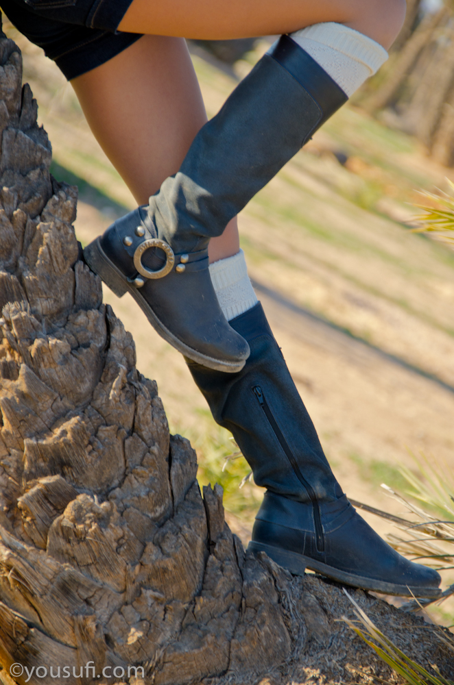 Marrakech Palm Trees Photoshoot with Miryam Miss Sixty Boots Shoot
